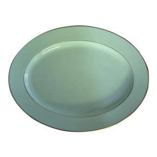 Noritake Oval White Gold Serving Platter Porcelain