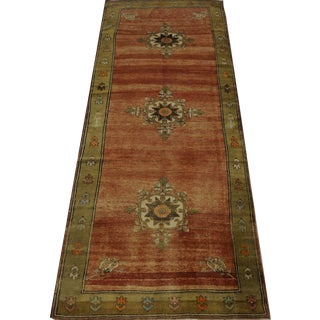 Vintage Turkish Oushak Rug - 5′ × 12′3″