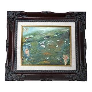 Nancy T. Van Ness Irish Fairies Original Oil Painting