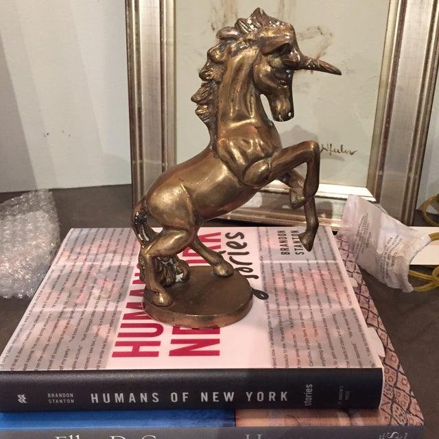 Vintage Brass Unicorn Figurine - Image 4 of 6