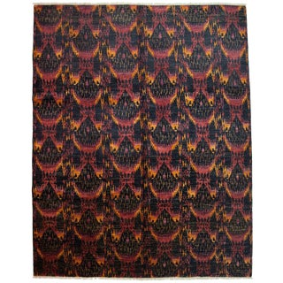 "Ikat, Hand Knotted Area Rug - 8' 2"" X 10' 2"""