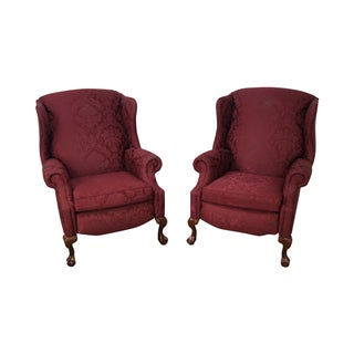 Hancock & Moore Chippendale Wing Chairs - Pair