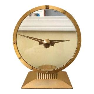 """Vintage Jefferson """"Golden Hour"""" Art Deco Style Clock"""