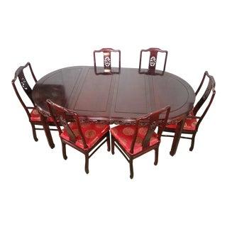 Asian Rosewood Dining Set