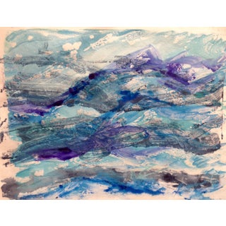 """Purple Tide"" Ocean Handmade Monotype, 2016"