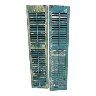 Cape May Rustic Farmhouse Louvered Shutters - A Pair