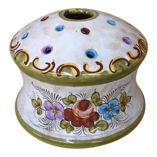 Italian Hand Painted Flower Holder