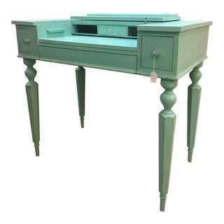 Seafoam Green Antique Desk
