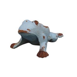 Cast Iron Frog Figure