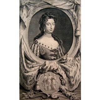 Antique 1774 Engraving of Queen Mary II