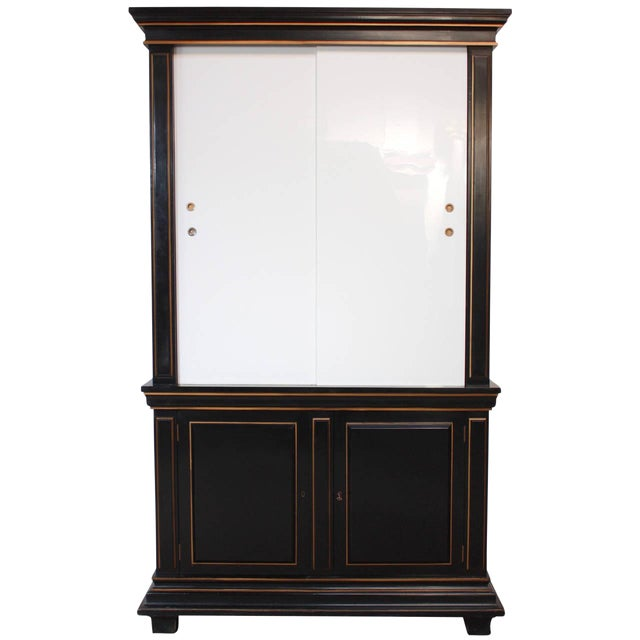 Image of 1970s James Mont Style Ebonized Armoire