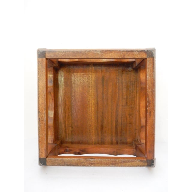 Low Coffee Table Square: Asian Square Elm Wood Low Coffee Table