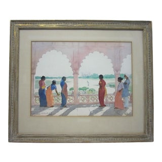 """John Lavalle """"Agra"""" Watercolor Painting"""