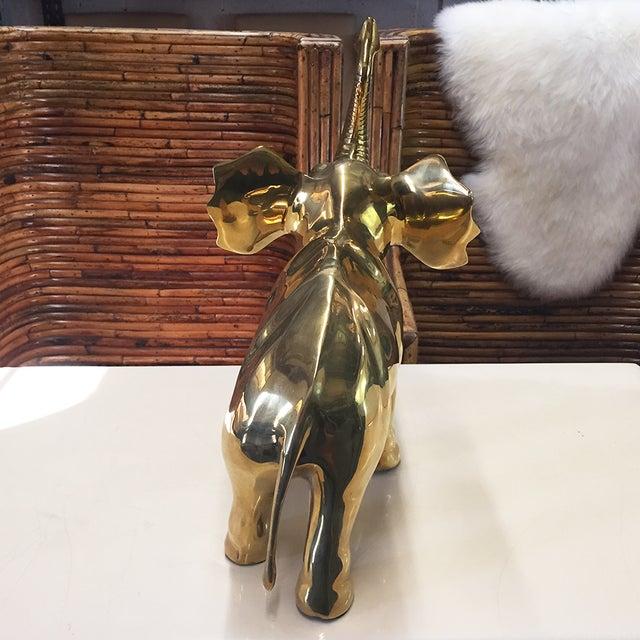 Large Brass Elephant - Image 4 of 5