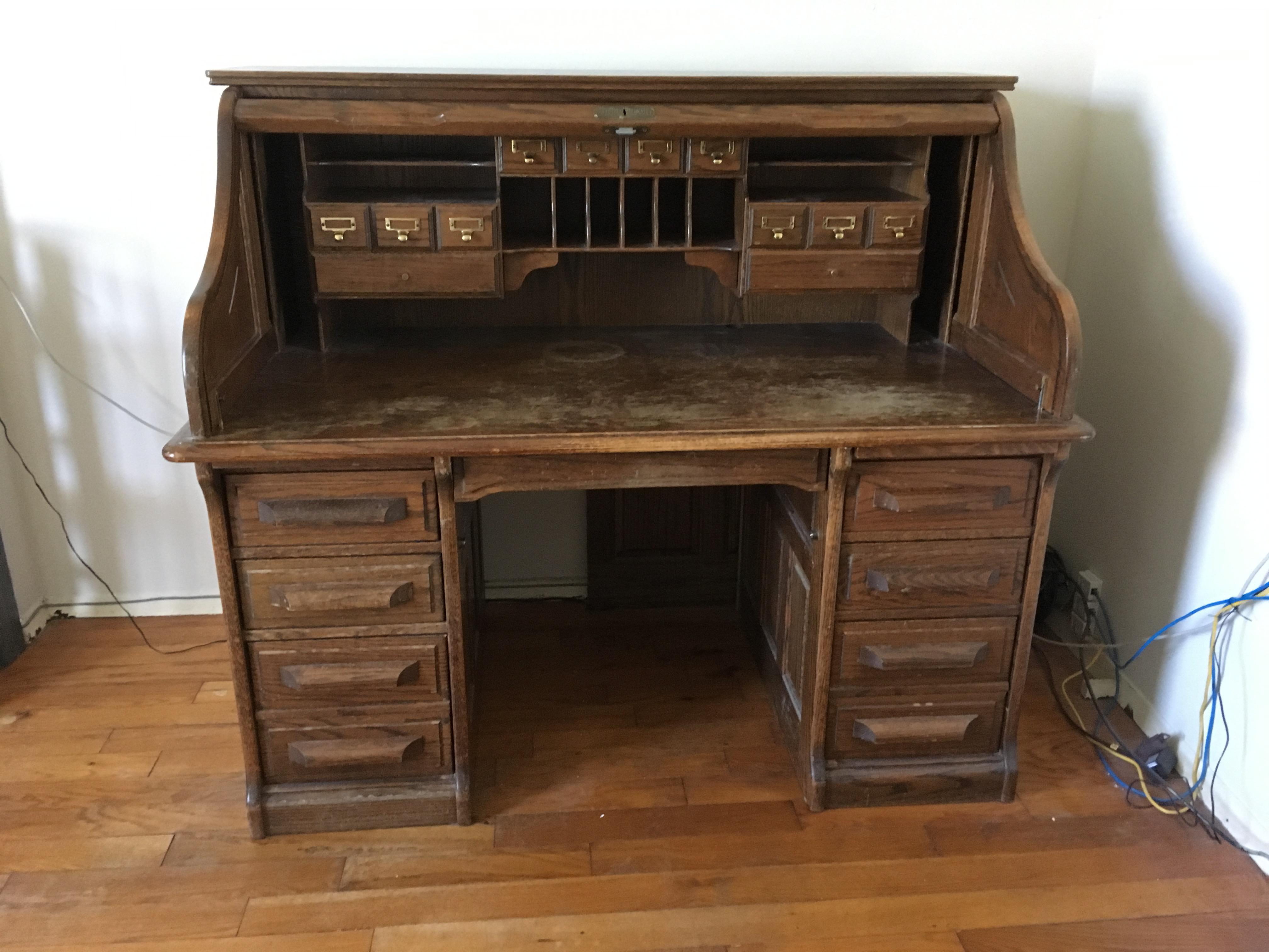vintage jefferson rolltop desk image 2 of 10