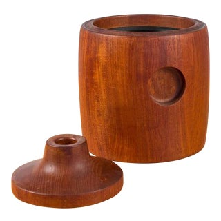 Teak Ice Bucket by Henning Koppel for Georg Jensen
