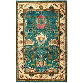 """Eclectic, Hand Knotted Area Rug - 5' 3"""" X 8' 3"""""""