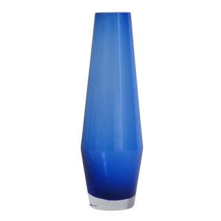 Italian Blue Murano Glass Vase