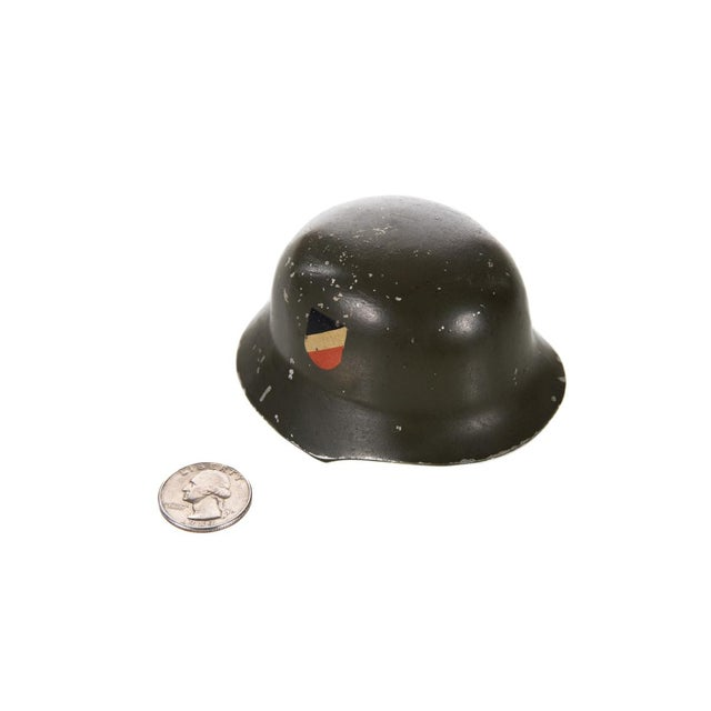 WW II Miniature German Helmet M1943 With Double Decal - Image 6 of 6