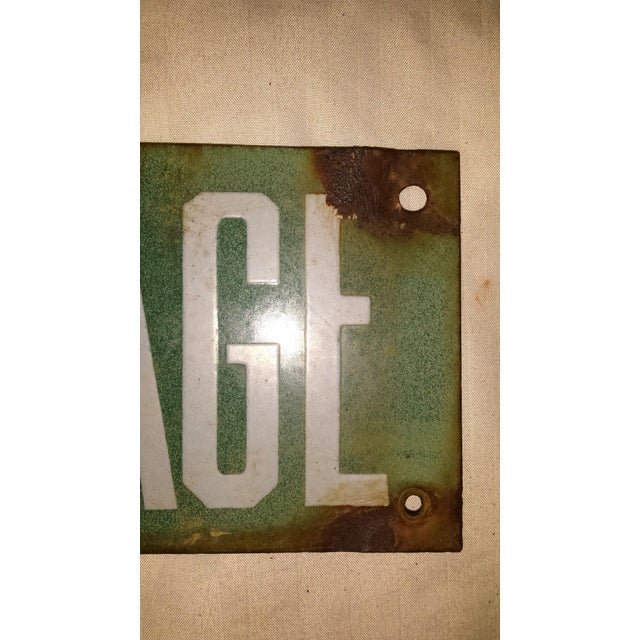 Vintage Green Porcelain High Voltage Sign - Image 6 of 6