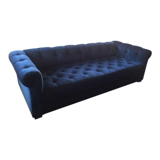 Blue Velvet Chesterfield Sofa Chairish