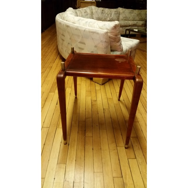 Mid Century Italian Floating Marble Top Table - Image 6 of 10