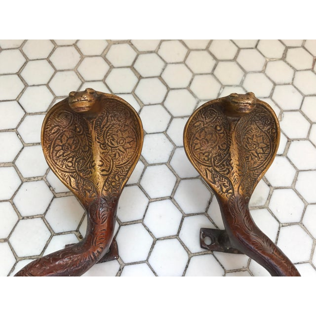 Gold Ombre Brass Cobra Door Handles - A Pair - Image 7 of 10