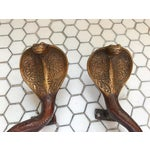 Image of Gold Ombre Brass Cobra Door Handles - A Pair