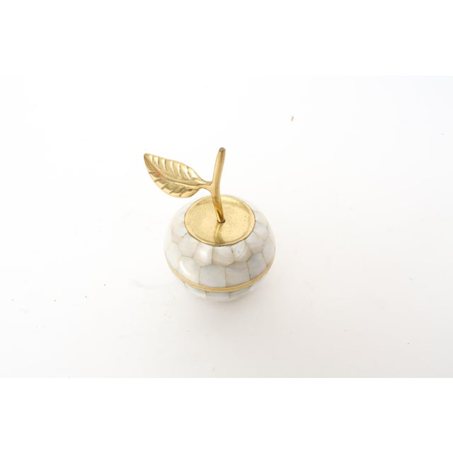 Vintage Mother of Pearl and Brass Trinket Box - Image 3 of 7