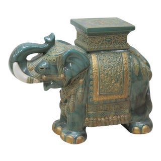 Decorative Ceramic Elephant Garden Seat