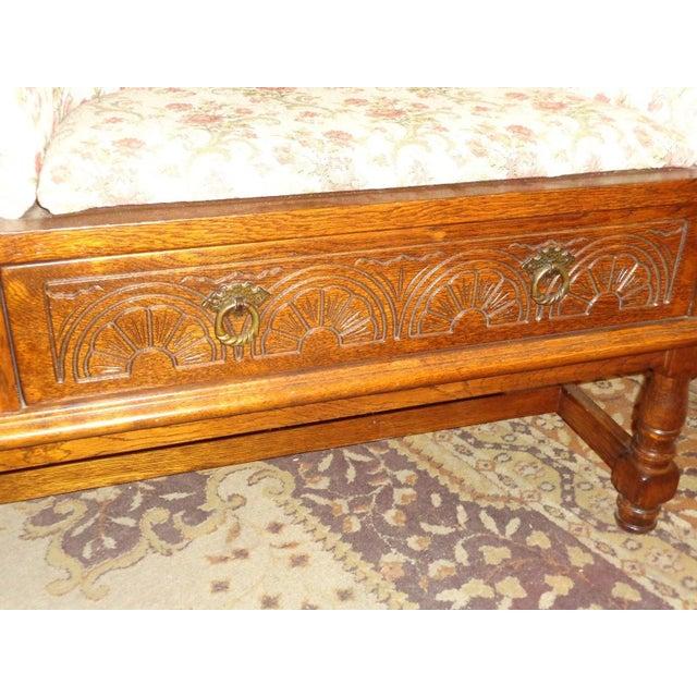 Edwardian Mid-Century Telephone Sofa Bench - Image 7 of 11