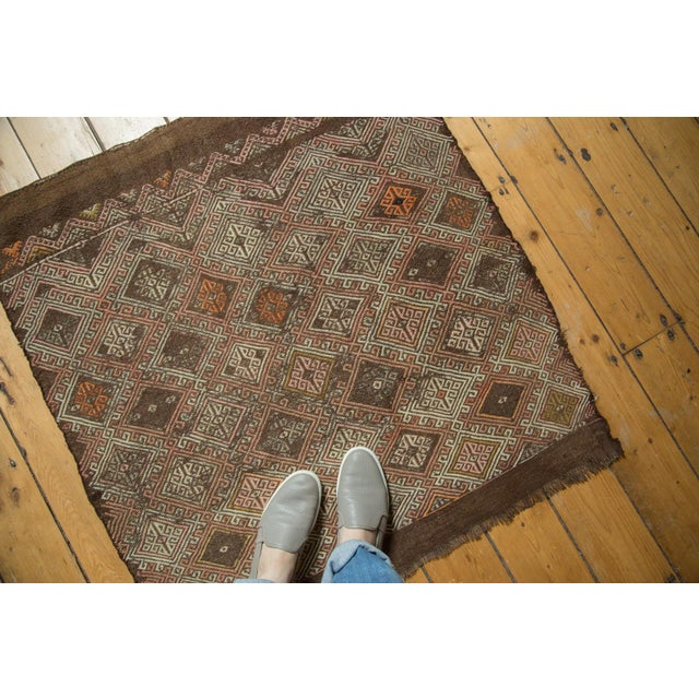 "Vintage Jijim Square Rug - 3'2"" x 3'5"" - Image 4 of 8"