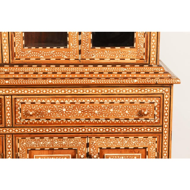 Richly Inlaid Indian Cabinet - Image 3 of 10