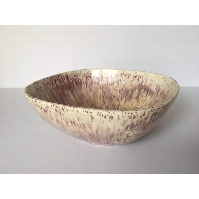 Purple & Oatmeal Danish Modern Bowl - Image 2 of 4