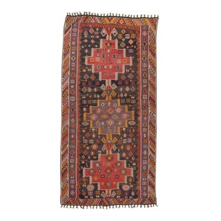 Handwoven Vintage Decorative Oversize Turkish Kilim Rug - 8′9″ × 17′3″