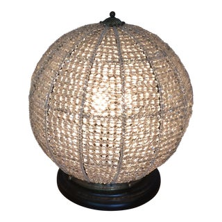 Fabulous Crystal Beaded Round Orb Table Lamp