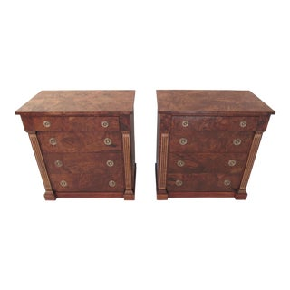 1930s Burlwood Bachelor's Chests - A Pair