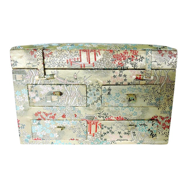 Oriental Brocade Jewelry Box - Image 1 of 5