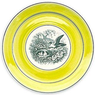 Vintage German Mottahedah Nesting Bird Plate