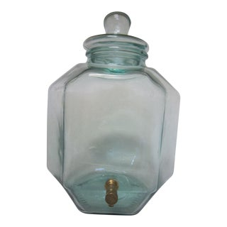 Italian Green Glass Decanter