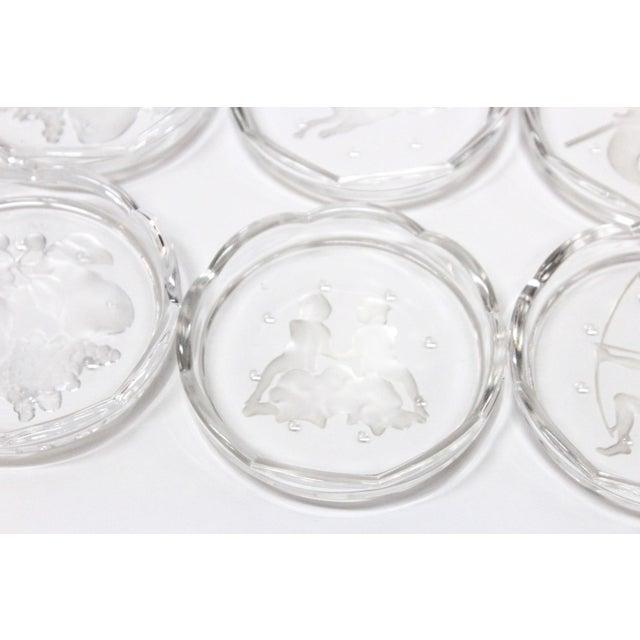 Image of Val St Lambert Coasters - Set of 10