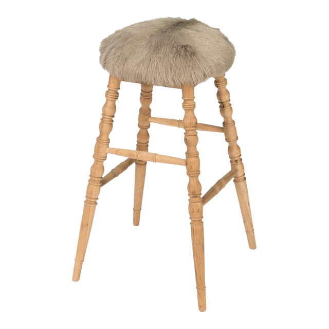 Sarreid LTD Beige 'Winoma' Bar Stool - Image 1 of 6