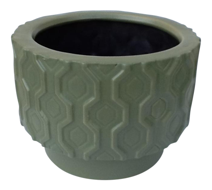 West Elm Geometric Design Pottery Vessel