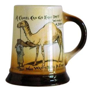 1910s Antique Camel Beer Mug, Anti Prohibition Souvenir