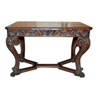 Continental Carved Mahogany Center Table