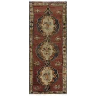 Vintage Turkish Oushak Rug - 4′8″ × 11′9″