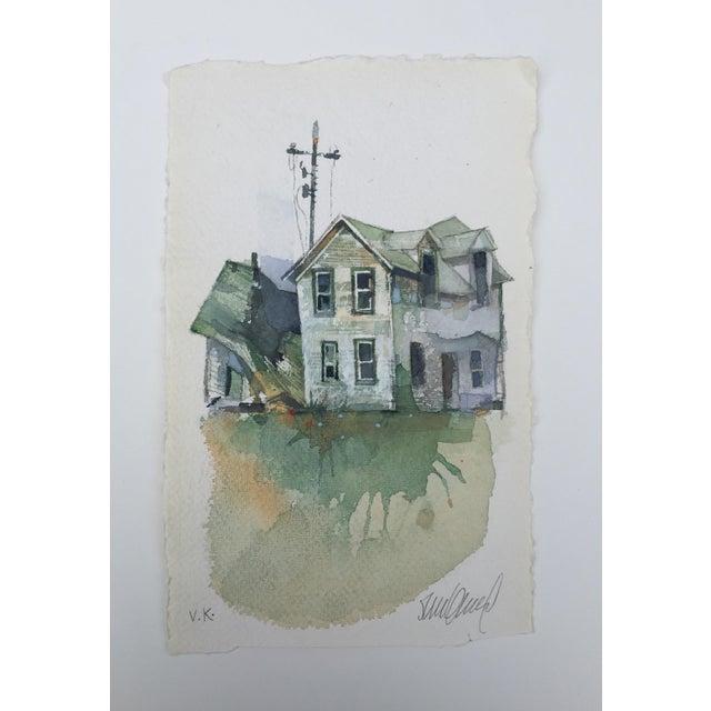 """Image of """"Dakota Farm"""" Original Watercolor"""