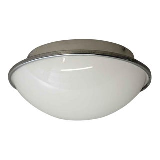 European Mid-Century Modern Dome Flush Mount Light