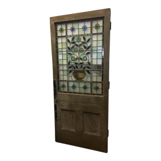 Beautiful 1920's English Stained Glass Door