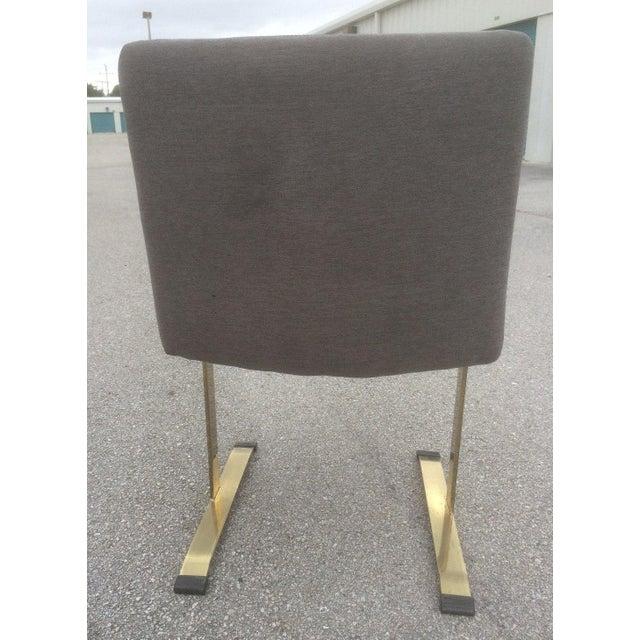 Image of Saporiti Brass & Gray Chairs - Set of 4